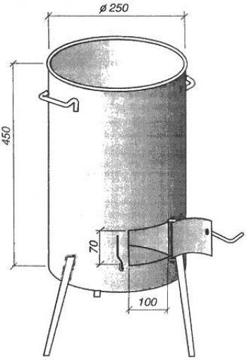 Схема печи из трубы