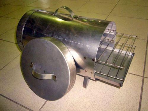 Цилиндрическая коптильня